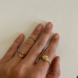 4 rings collection - mixed metals